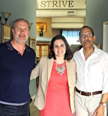 Lauren McCann, Executive Vice President of Stand Together, with Strive Founders Don Anderson and Jim Tetreau