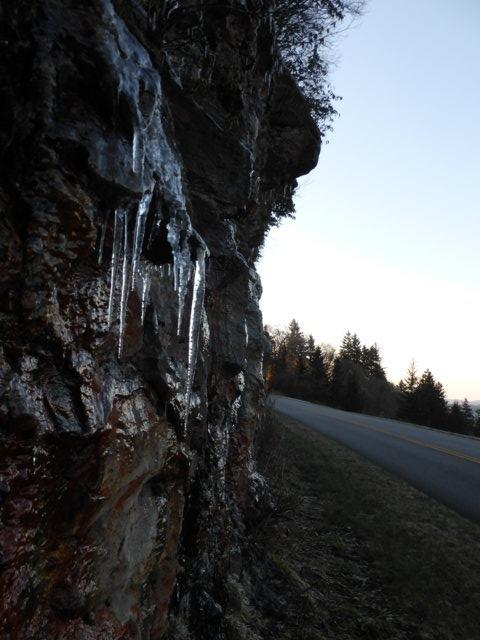 Smokey Mountain icicles