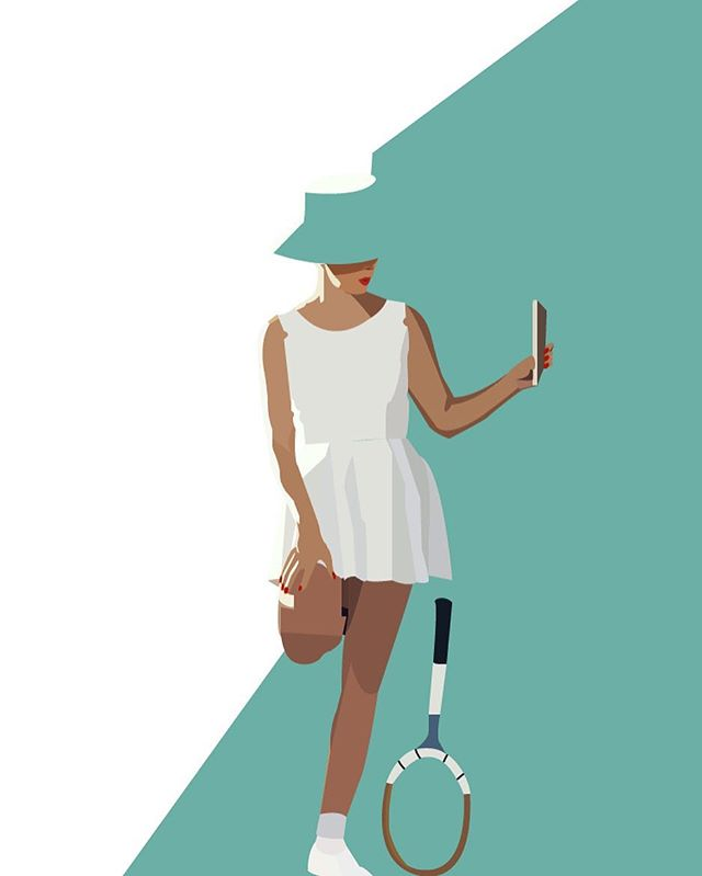 • tennis anyone? •  Hello Friends! Finally posting to this page! I hope to keep up with this instagram as a way to share my designs & illustrations I am currently working on! • • •  #design #graphicdesign #illustration #adobeillustrator #tennis #mod #retrodesign
