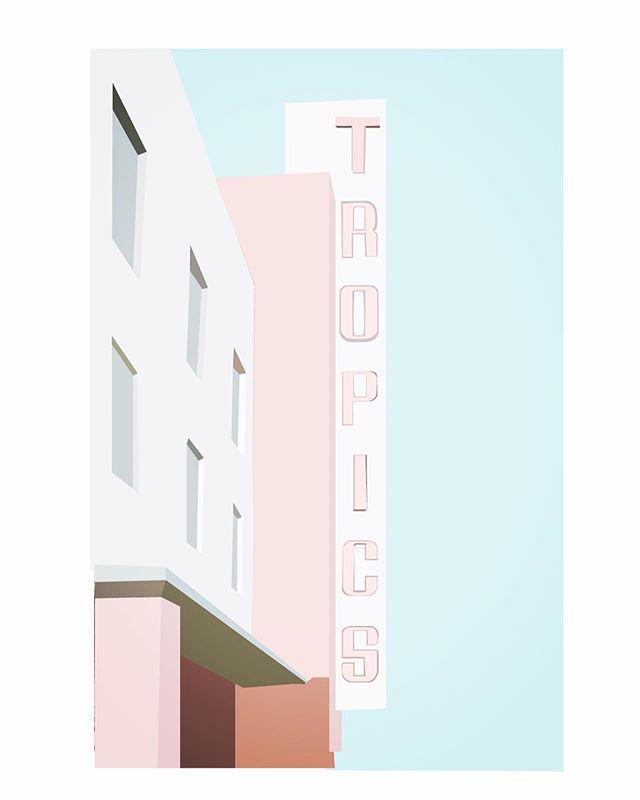 • paradise is blush pink • . . . . . . . #tropics #blushpink #pinkpalette #paradise #marquee #retro #midcenturymodern #everydaysketch #vacationmode #vacationvibes #design #illustrationoftheday #illustration