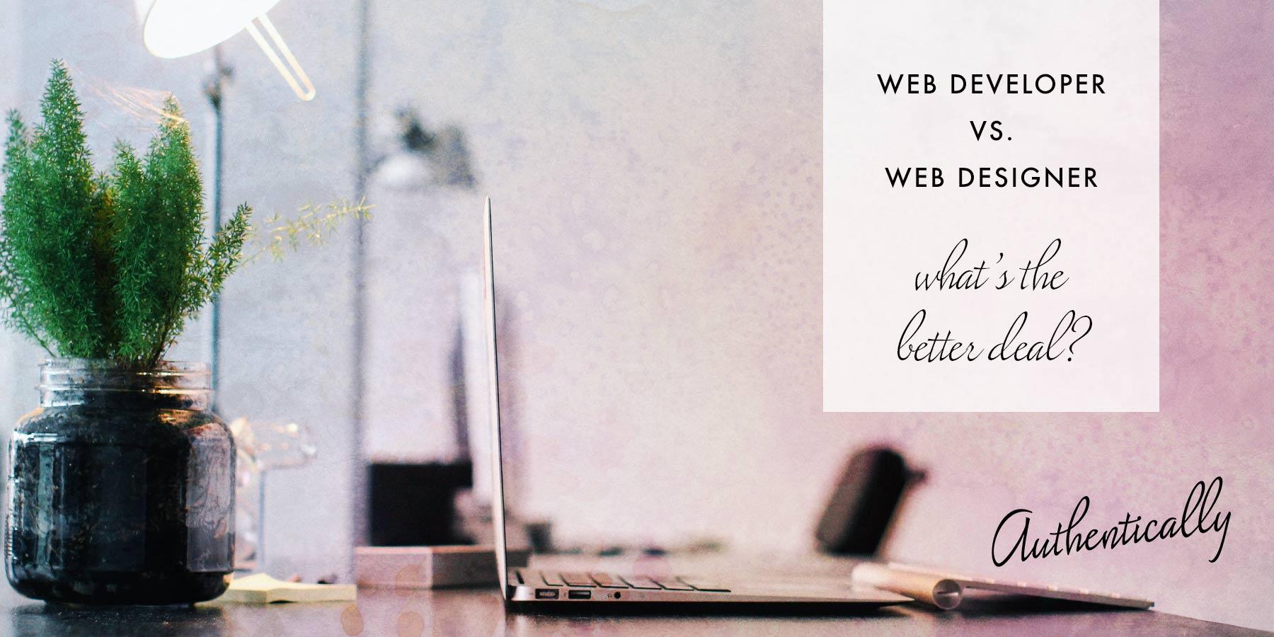 website designer vs website developer