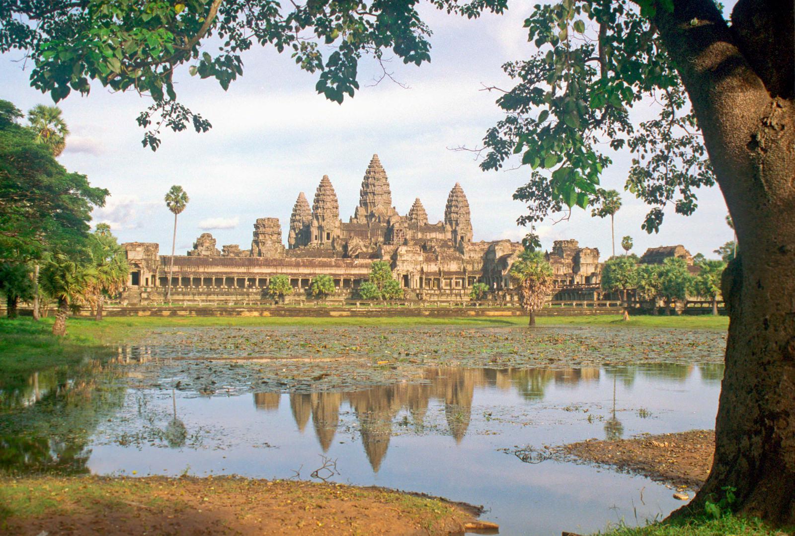 Angkor Wat after a massive storm