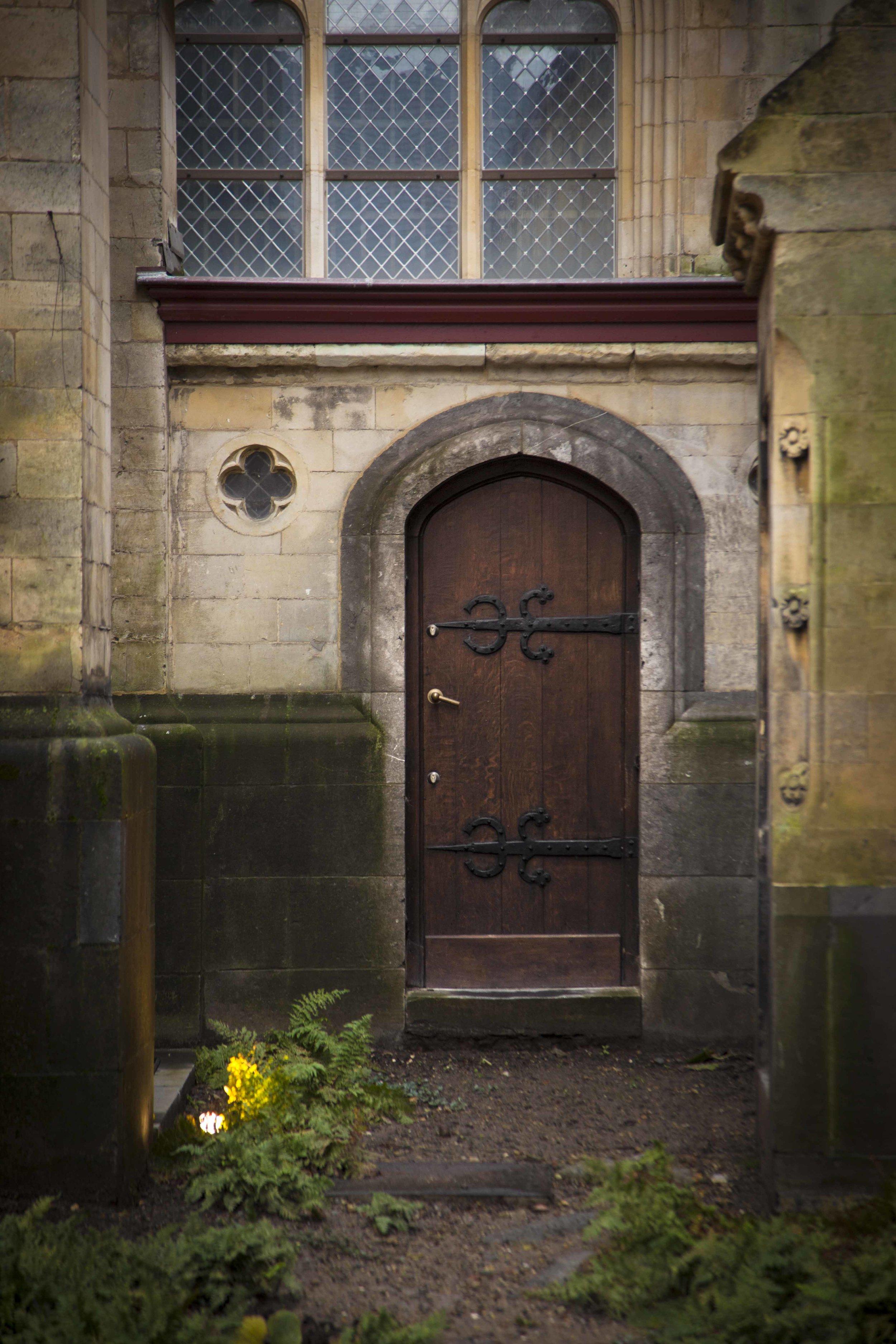 Belgium medieval door
