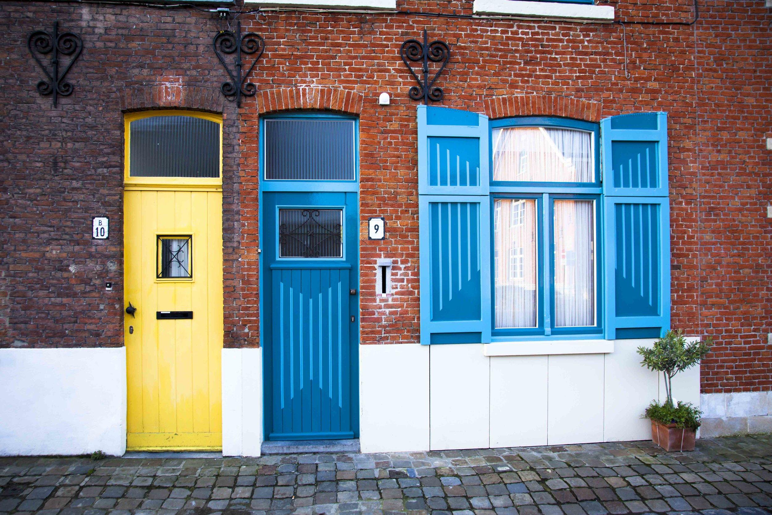 Bright Belgian doors