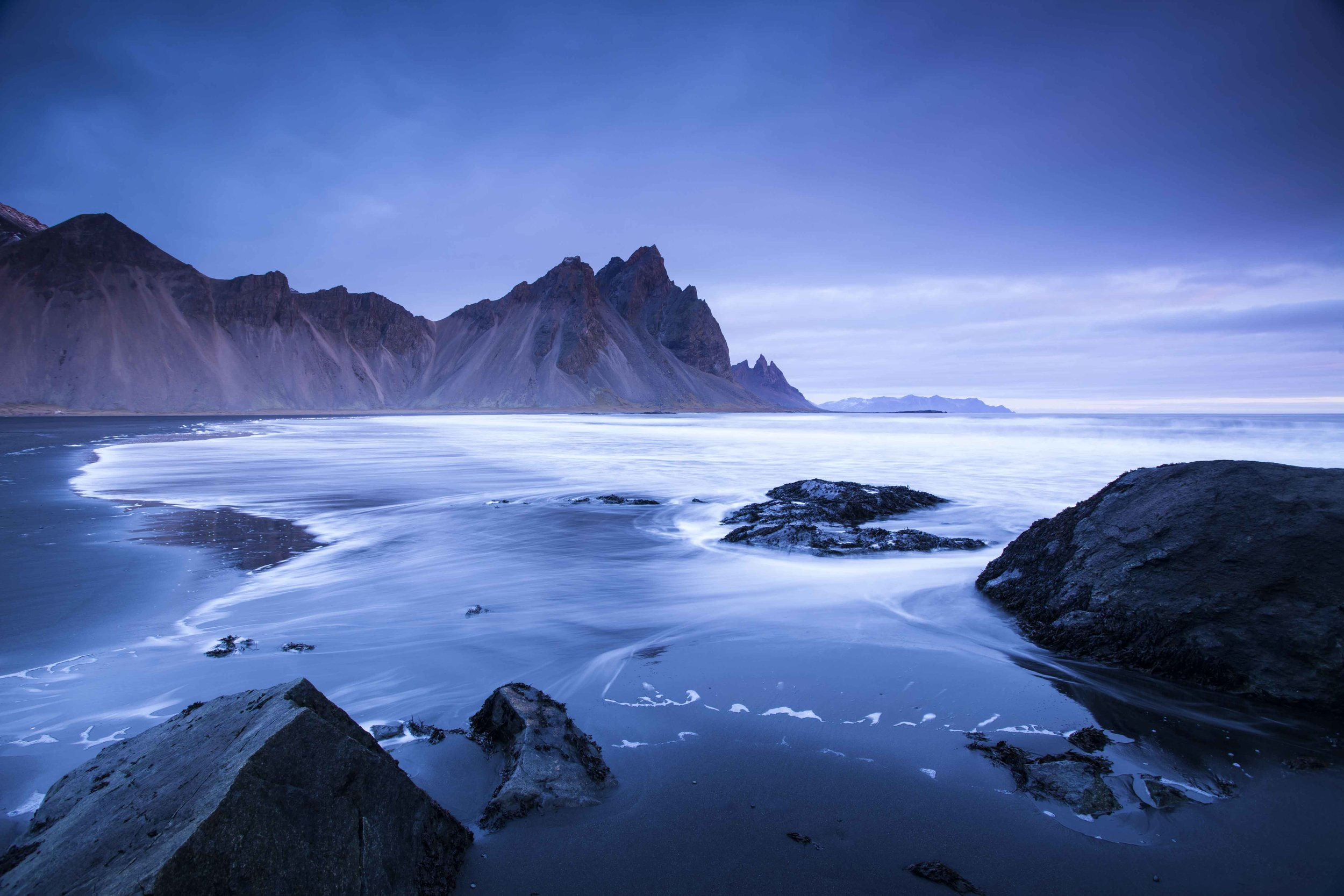 Vestrahorn as the storm comes