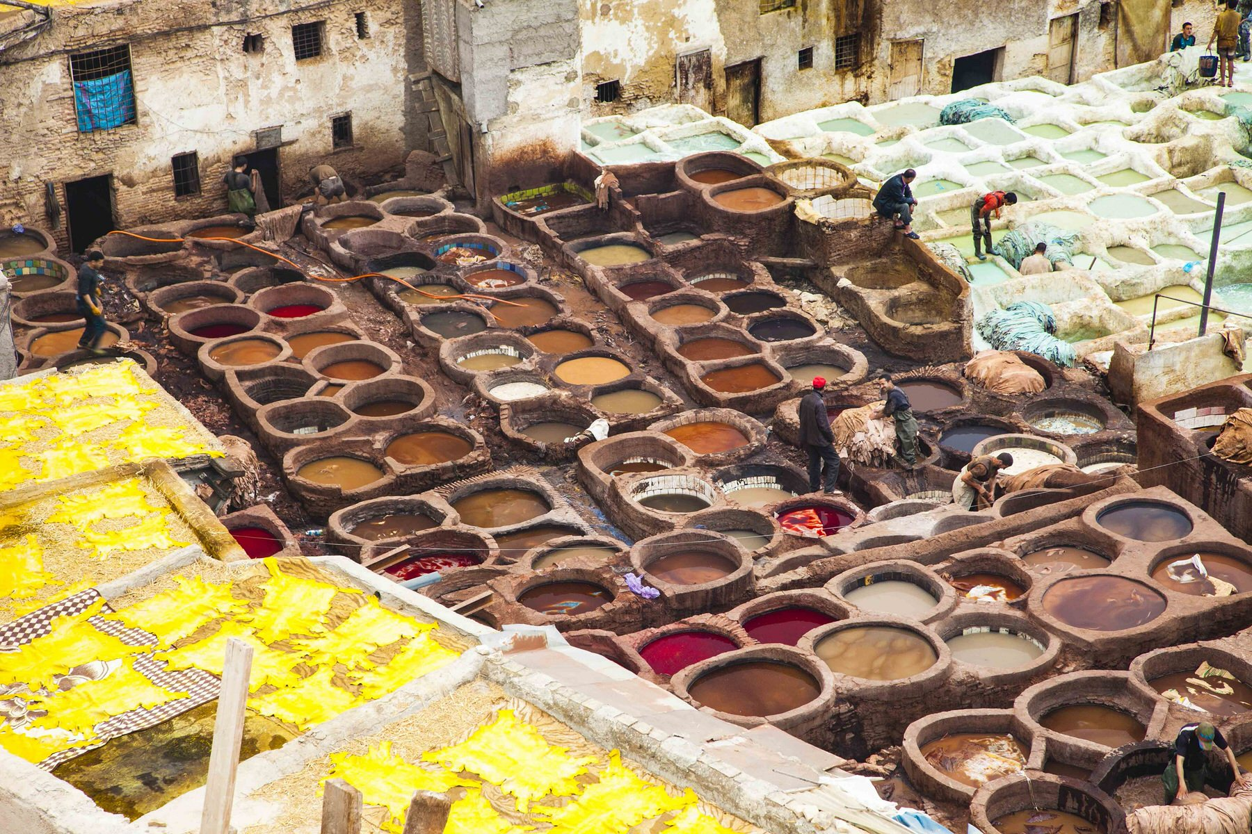 Fez tanneries, Morocco