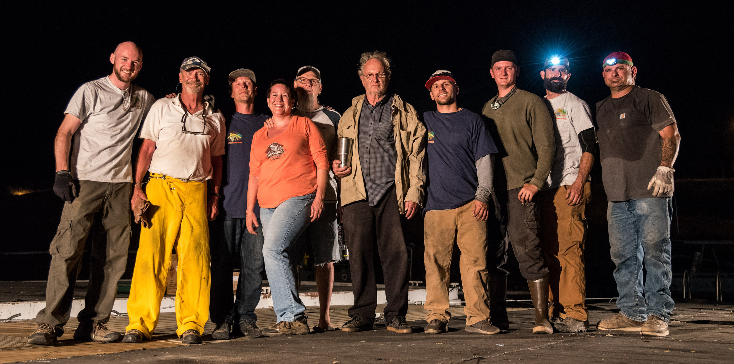 The crew and our crazy scientist leader Jeph—Don't let that face fool you, he's really a nice guy haha.