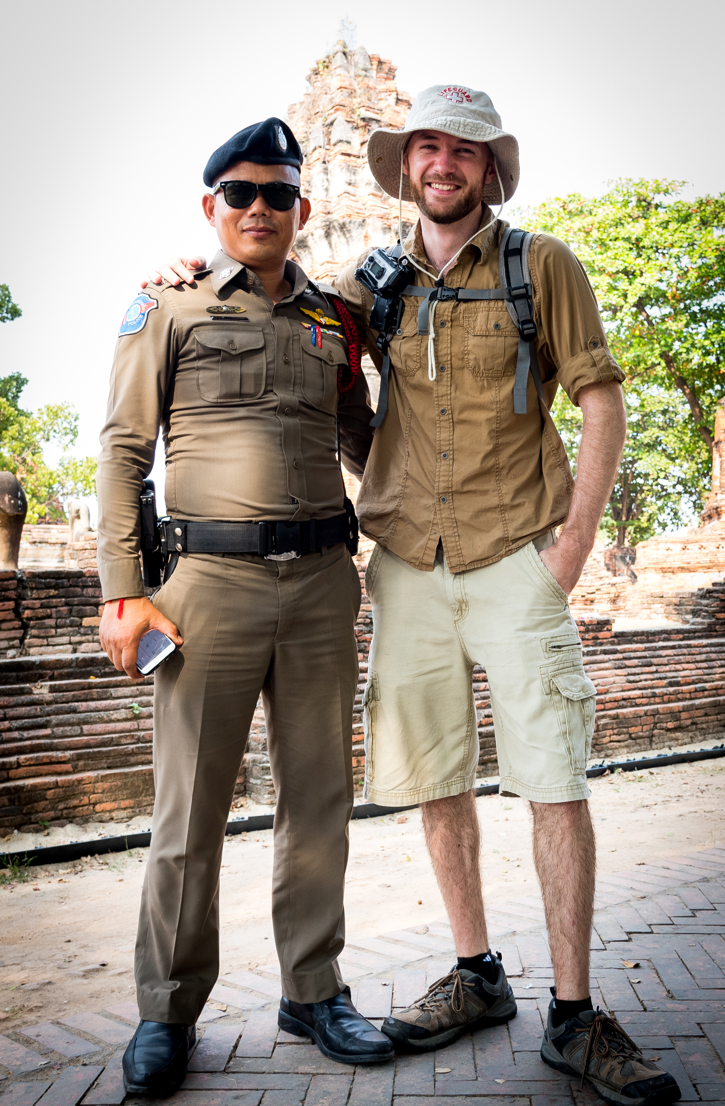 The guard who wanted to take a photo with me.