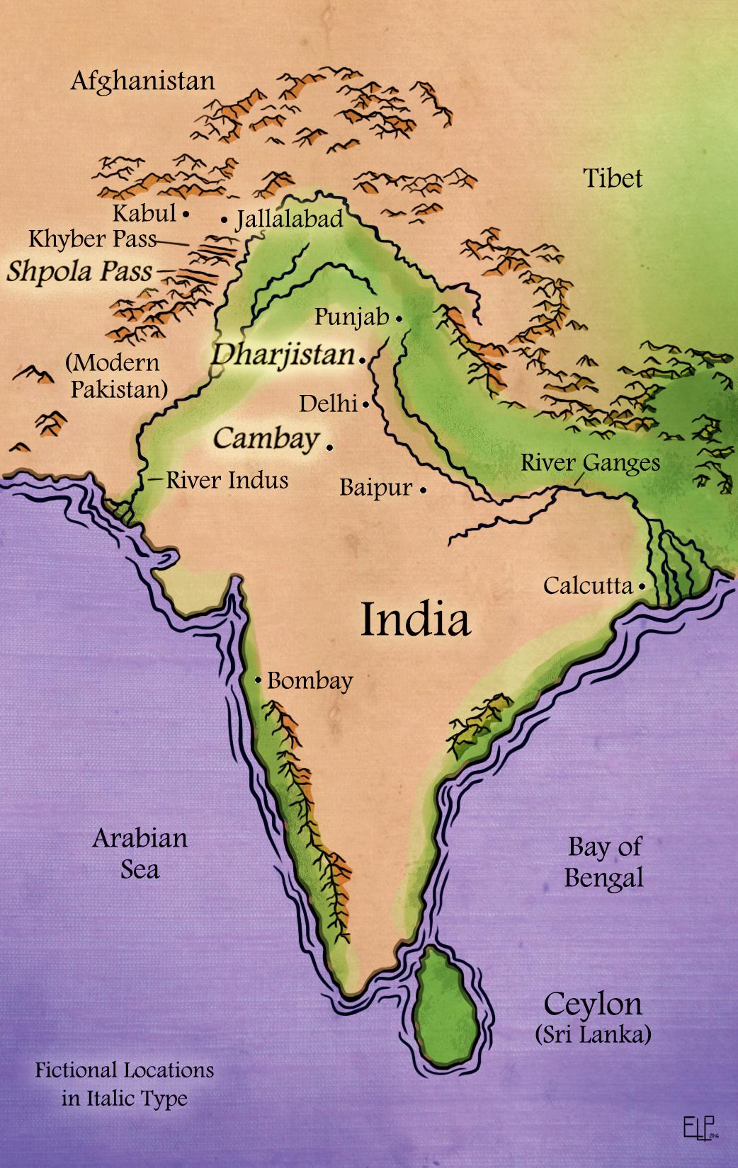 Veils of Silk Map
