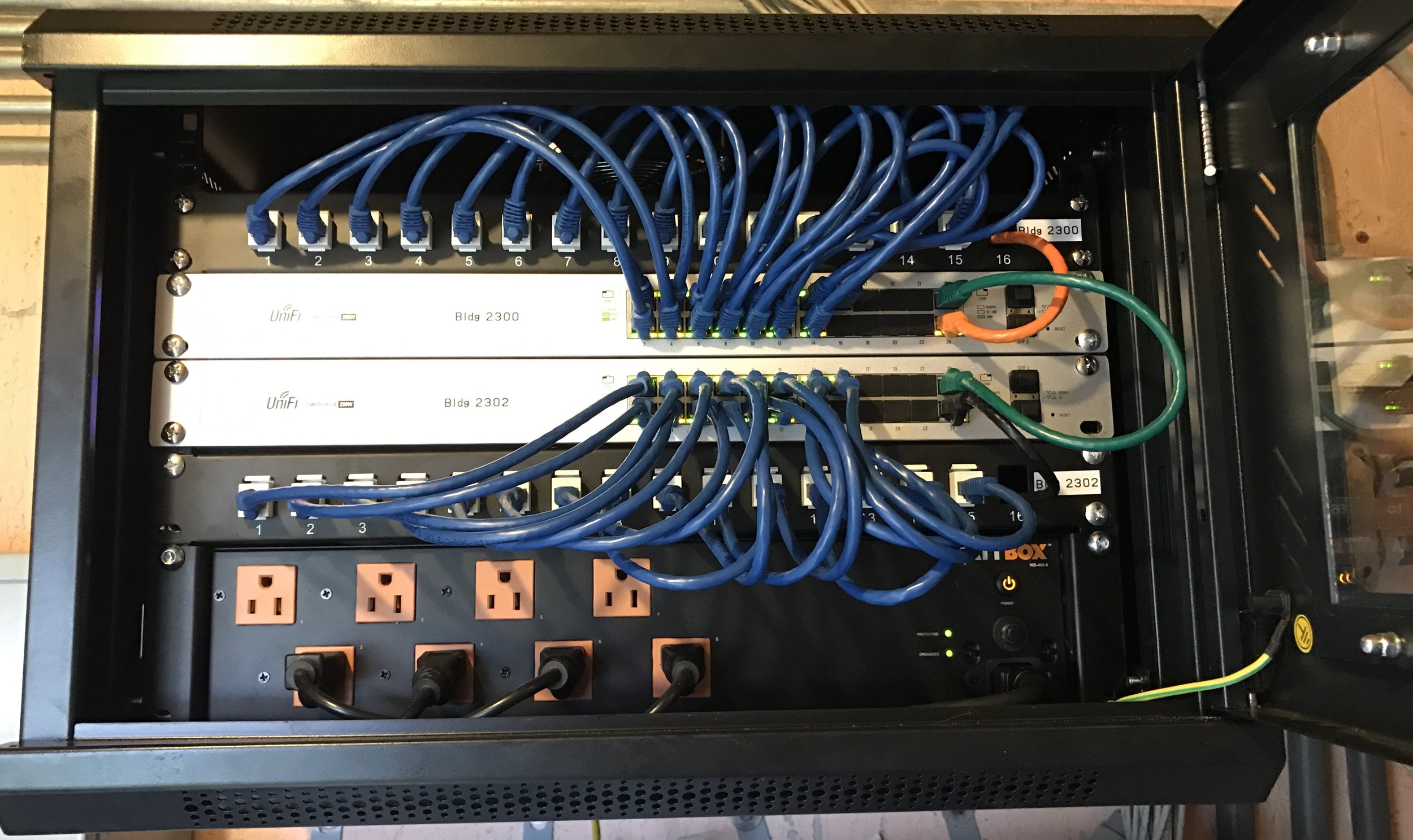 Network cabinet organization