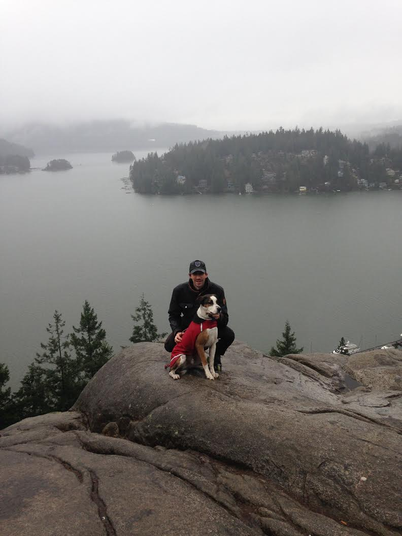 Frank enjoying a hike to Quarry Rock with his new dad