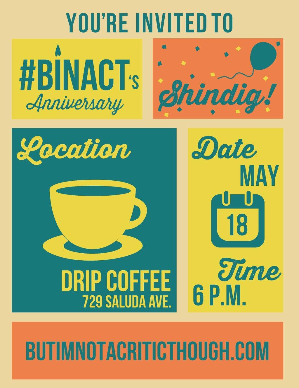 Keep up with    #BINACT