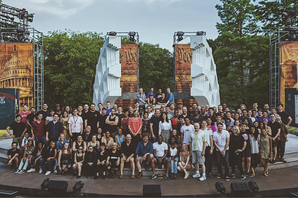 Full Company of Julius Caesar - Shakespeare in the Park.