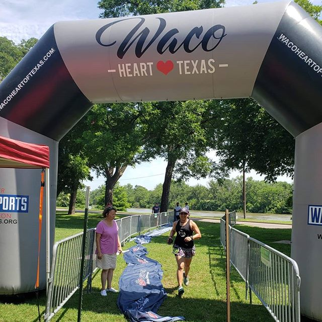 Sunday morning race adventures!  Had my first experience of a race in Waco, Texas, second half marathon in a week. Definitely had a rough go today, but overall totally worth the effort.  Beautiful trails, HOT AF day, and ran into a skirt sister. Hope y'all's weekend adventures were soul filling!