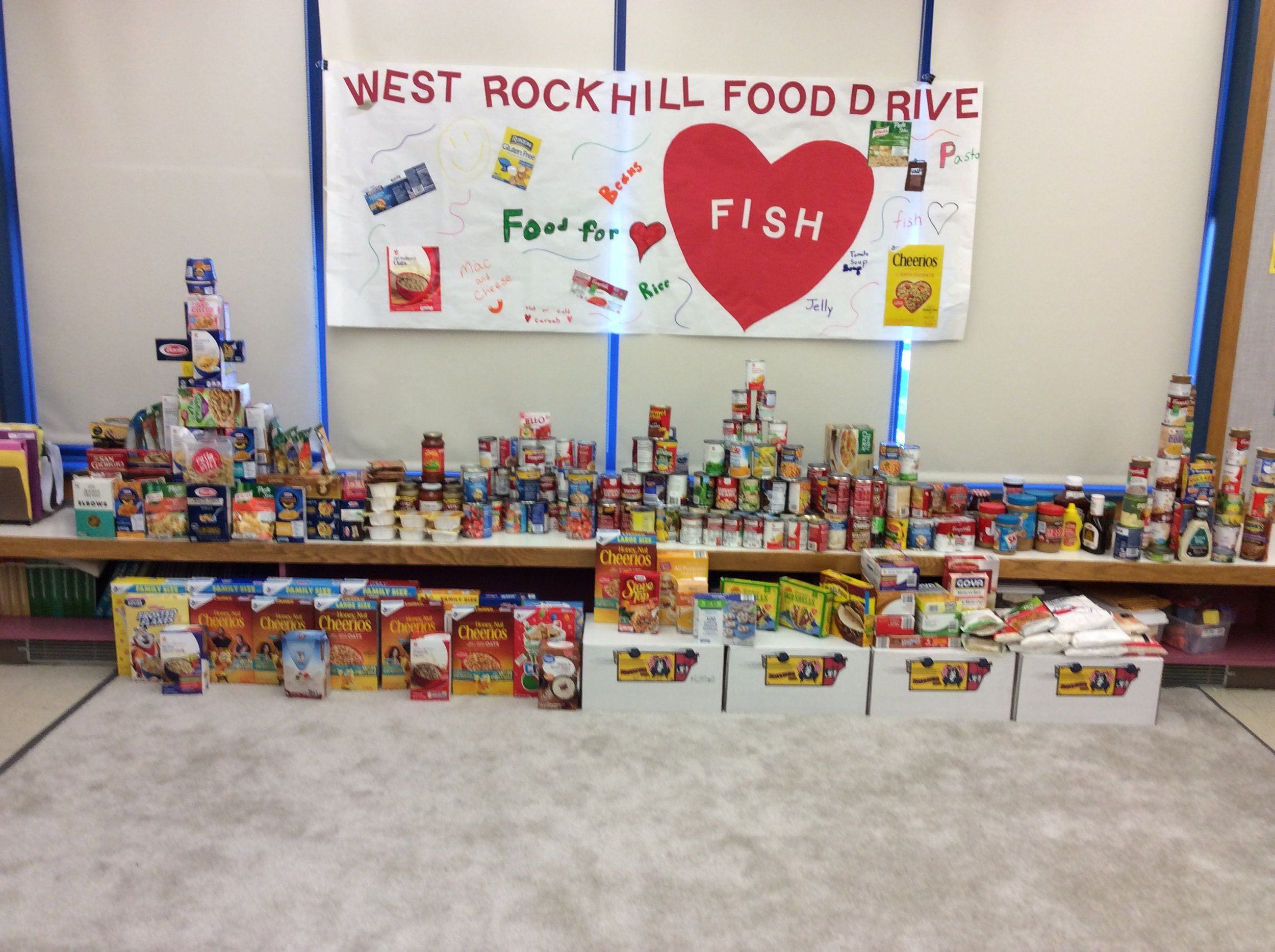 As part of a student council sponsored event, the students at West Rockhill Elementary School in Bucks County, Pennsylvania collected food for a local food pantry known as F.I.S.H. Their efforts will help feed struggling families in their local community. Thank you Jane Krot for letting us know about the wonderful kids of West Rockhill Elementary School. #WestRockhillMovesMountains!