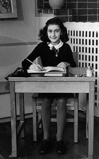 Anne Frank school photo, courtesy of Creative Commons