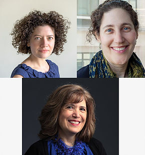 (top l-r) Adah Nuchi and Leslie Kimmelman (bottom) Nancy Churnin