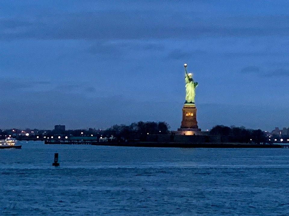 """Was this the famous Statue of Liberty?...One day, Irving promised himself, I am going to write a song just for her.""-- IRVING BERLIN, THE IMMIGRANT BOY WHO MADE AMERICA SING by Nancy Churnin (photo by David Granberry)"
