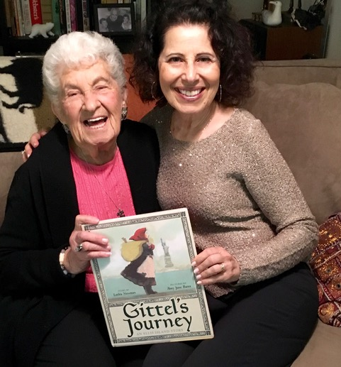Leslea with her Aunt Phyllis, now 91, whose family stories helped inspire the book, illustrated by Amy June Bates and published by Abrams Books for Young Readers. Photo by Mary Vazquez