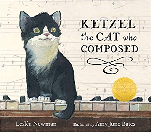 Leslea's Ketzel the Cat Who Composed was also illustrated by Amy June Bates. (Candlewick)