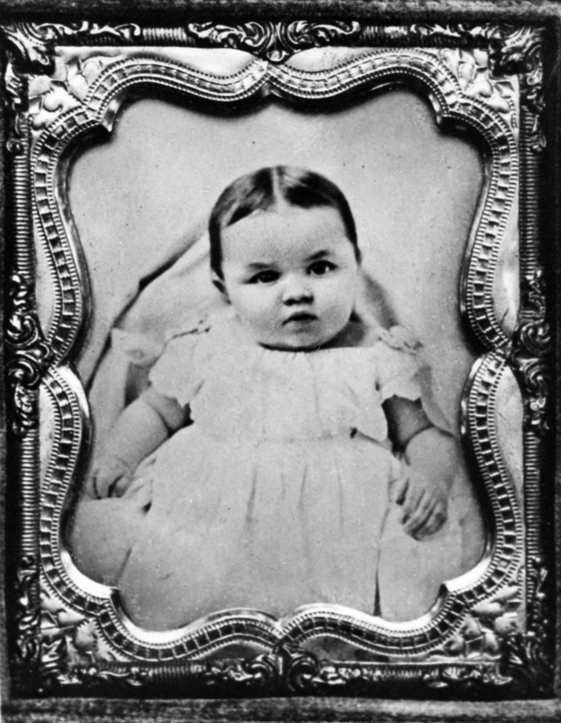 Katharine Lee Bates as an infant, courtesy of Melinda M. Ponder and the Wellesley College Archives