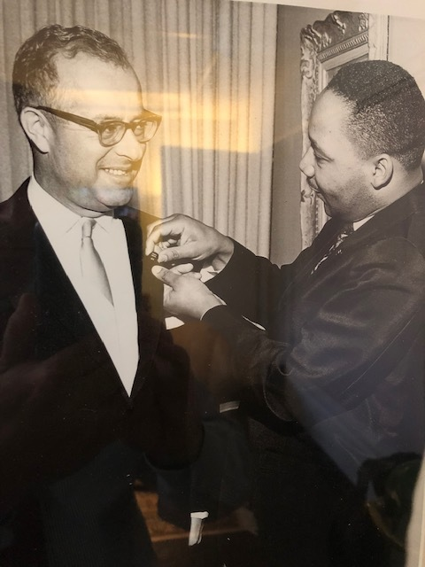 Stanley Mosk and Dr. Martin Luther King, Jr. Photo courtesy of Matthew Mosk