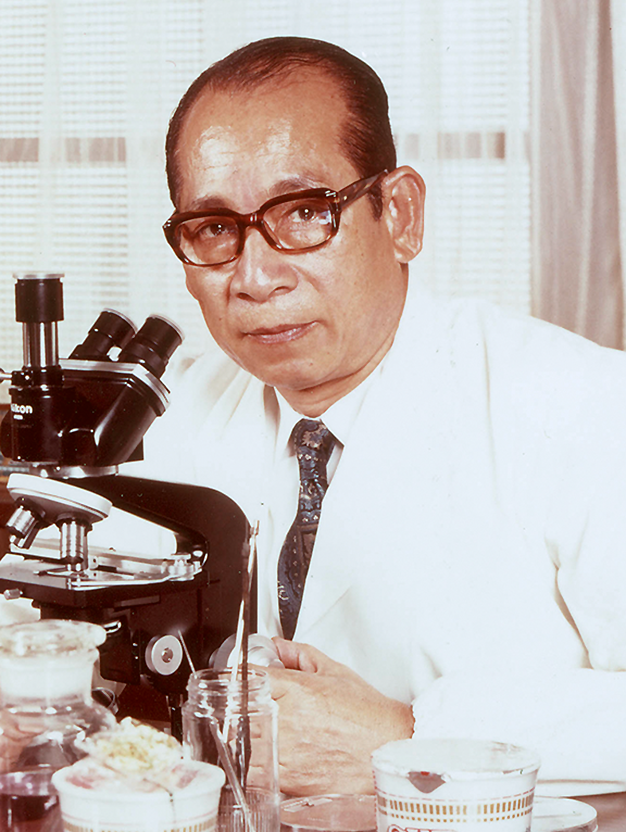 Momofuku Ando in his laboratory. Photo courtesy of Nissin Foods