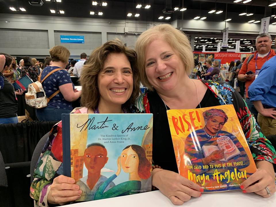 Hanging out with the wonderful Bethany Hegedus at the Texas Library Association convention in Austin