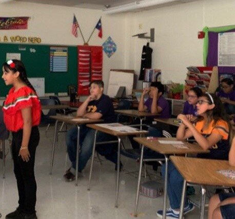 Students at a school in El Paso talking to the new friends they've made at South Georgia Elementary in Amarillo through the Kindred Spirits project. Thank you to both these schools for reaching out to each other. Friendship makes the world a better place, filled with hope and possibility! And thank you to teacher Christina Mier for supplying these photos.