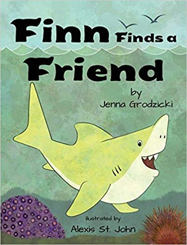 Finn Finds a Friend  by Jenna Grodzicki, illustrations by Alexis St. John (Spork) is the fish that started it all.