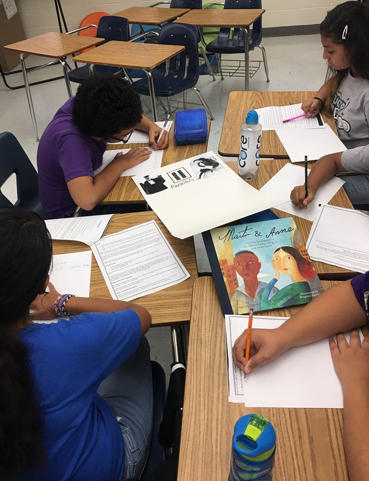 Kids from El Paso working on Martin & Anne projects that they will share with their Kindred Spirits friends at South Georgia Elementary in Amarillo.