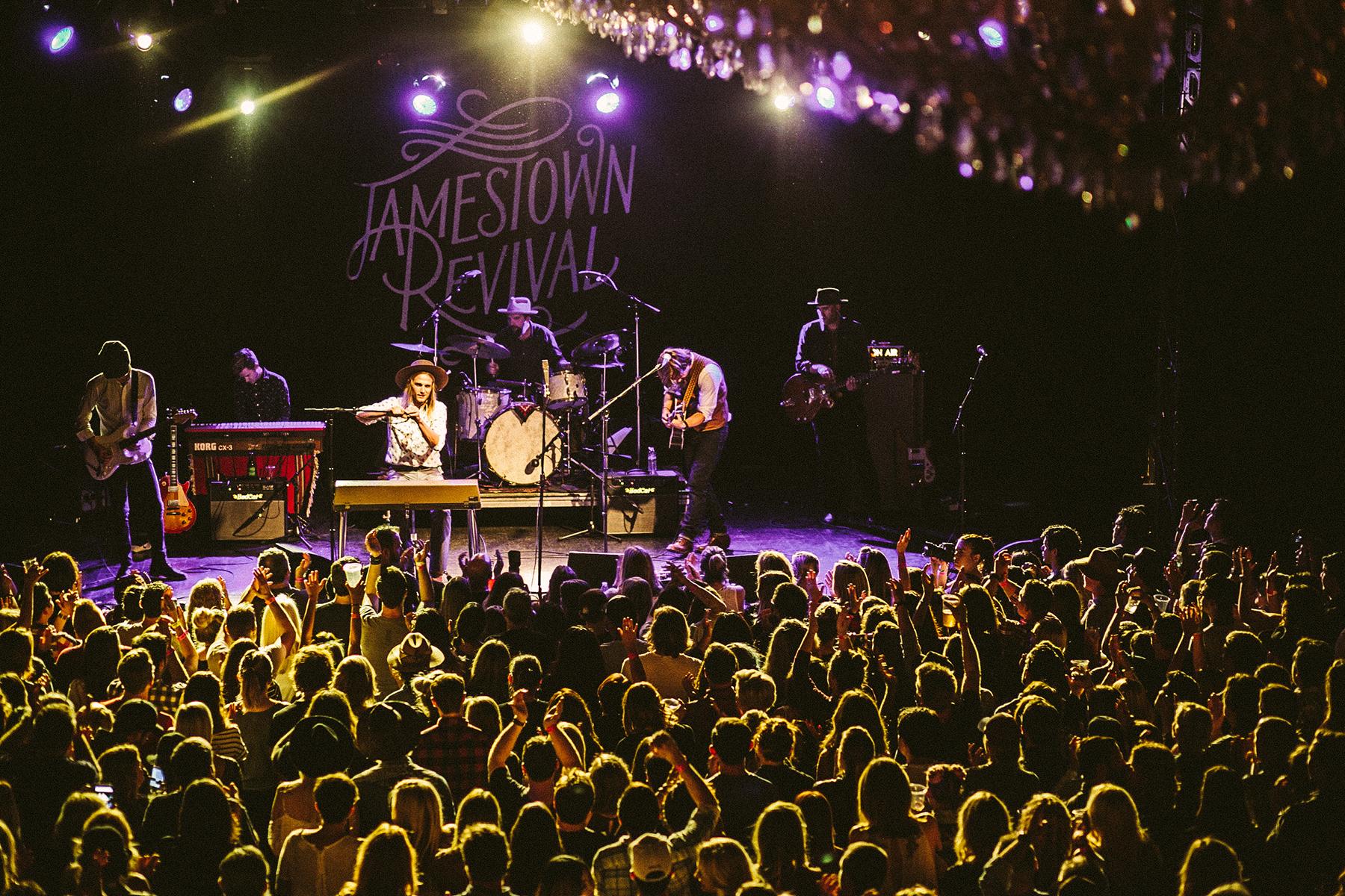 Jamestown Revival at El Rey Theatre in Los Angeles, CA.