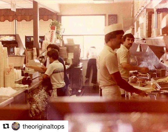 "This is Jimmy ""the original"". Jimmy and Julie met @theoriginaltops in 1981, and the rest is history.  Thank you @theoriginaltops for posting this, you have no idea how much this photo means to our family! #DontWorryBeHappy"