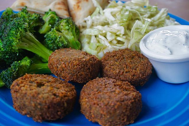 Ask and you shall receive. Falafel now available! Our falafel is vegan, gluten free, soy free, non GMO and taste amazing! #jimmyskouzina