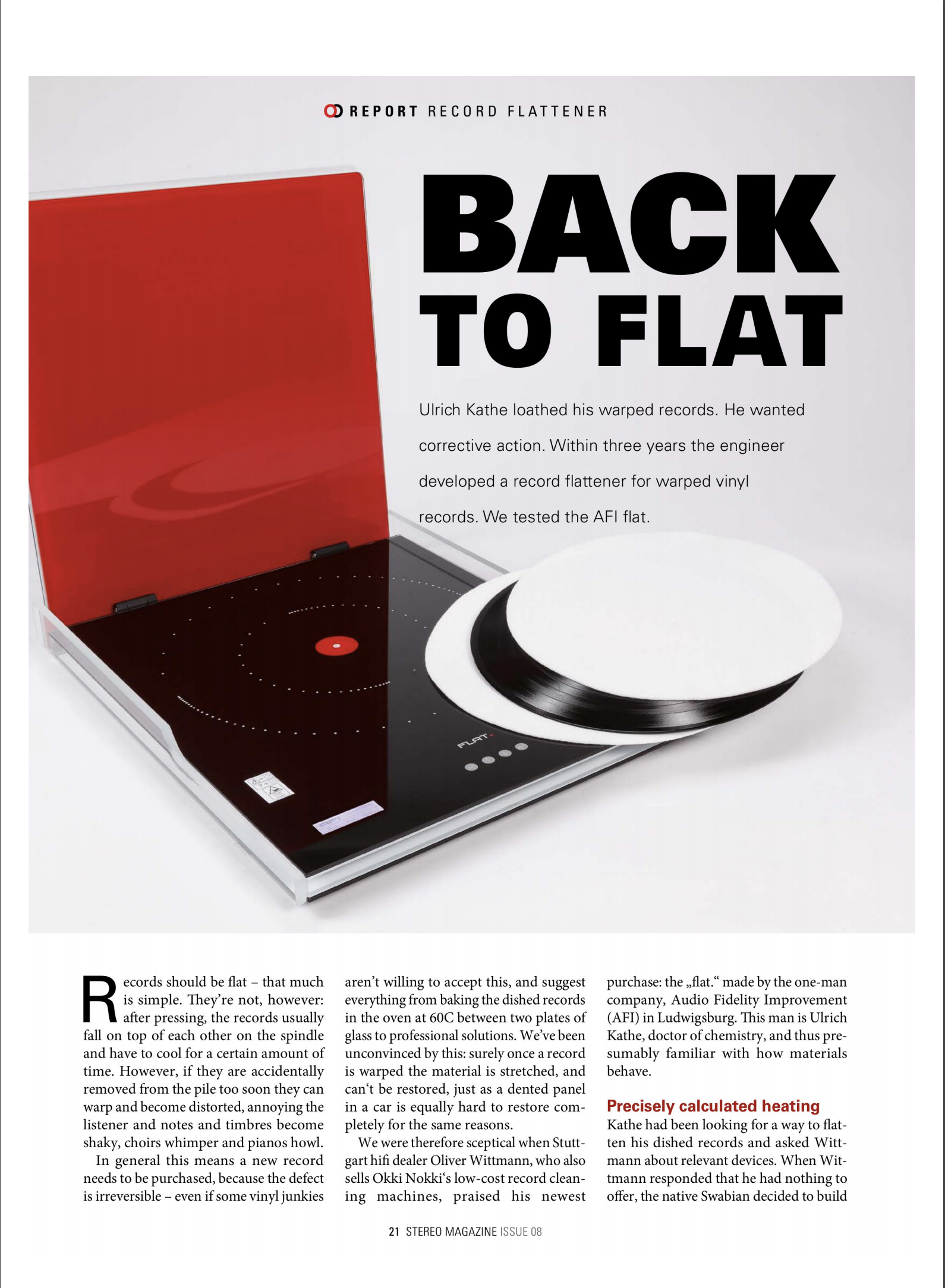 Download the Stereo Magazine Review of AFI FLAT