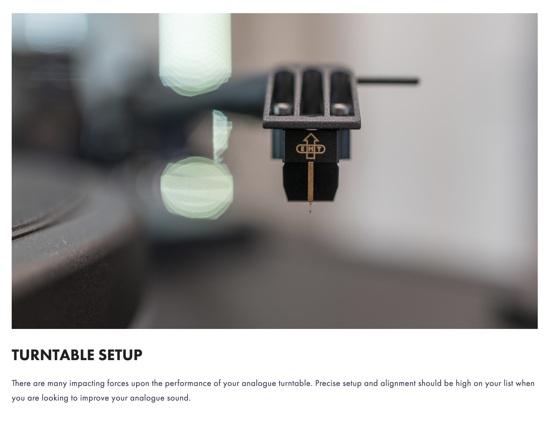 Visit our guide for all things Turntable Setup