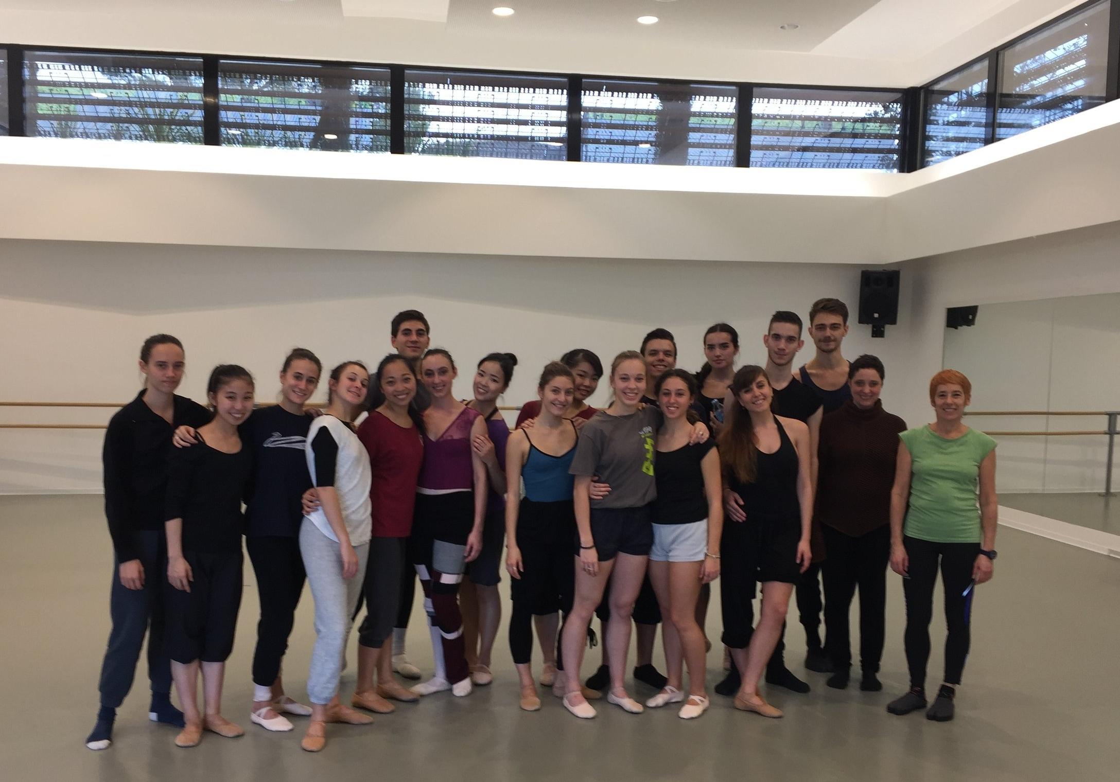 Classe de DNSP2 avec Joelle Donati et Silvia Bidegain (à droite)