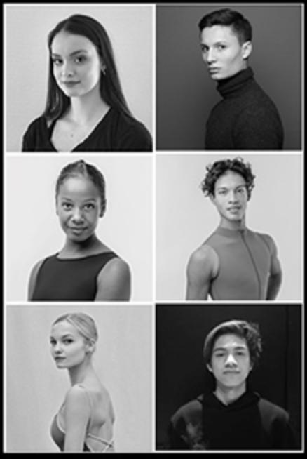 Nouvelle promotion des danseurs apprentis 2019-2020 - Lucile BoulayLana RenfrumEmma SpinosiMaxime AlvarezPierre-Antoine BardotBenedict Sabularse