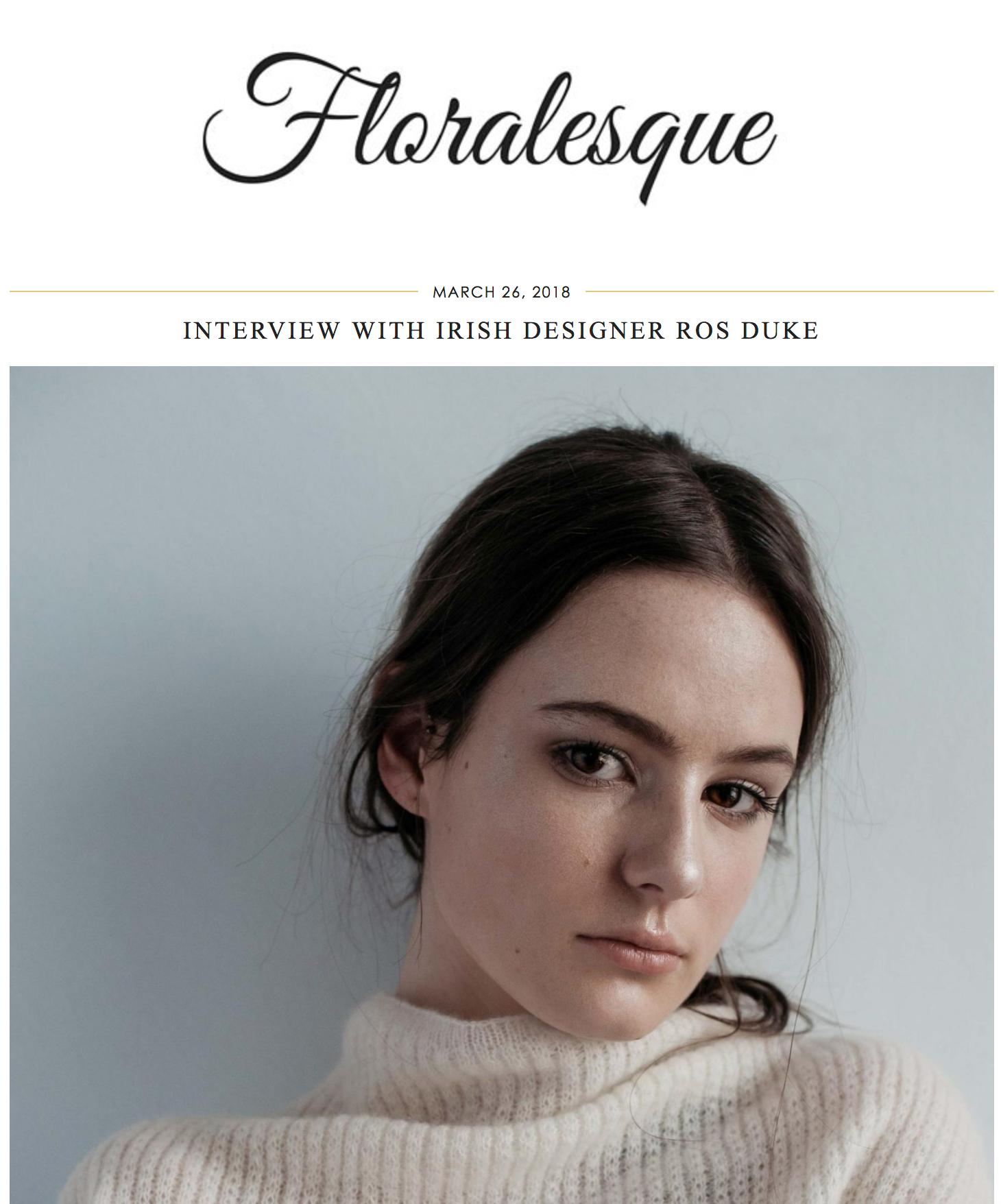 Floralesque Blog Interview March '18