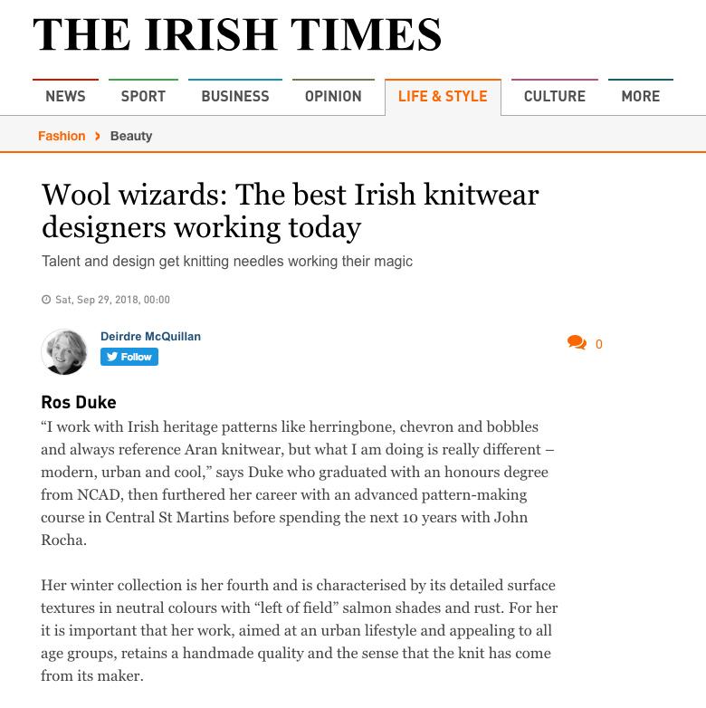 Irish Times Magazine September '18