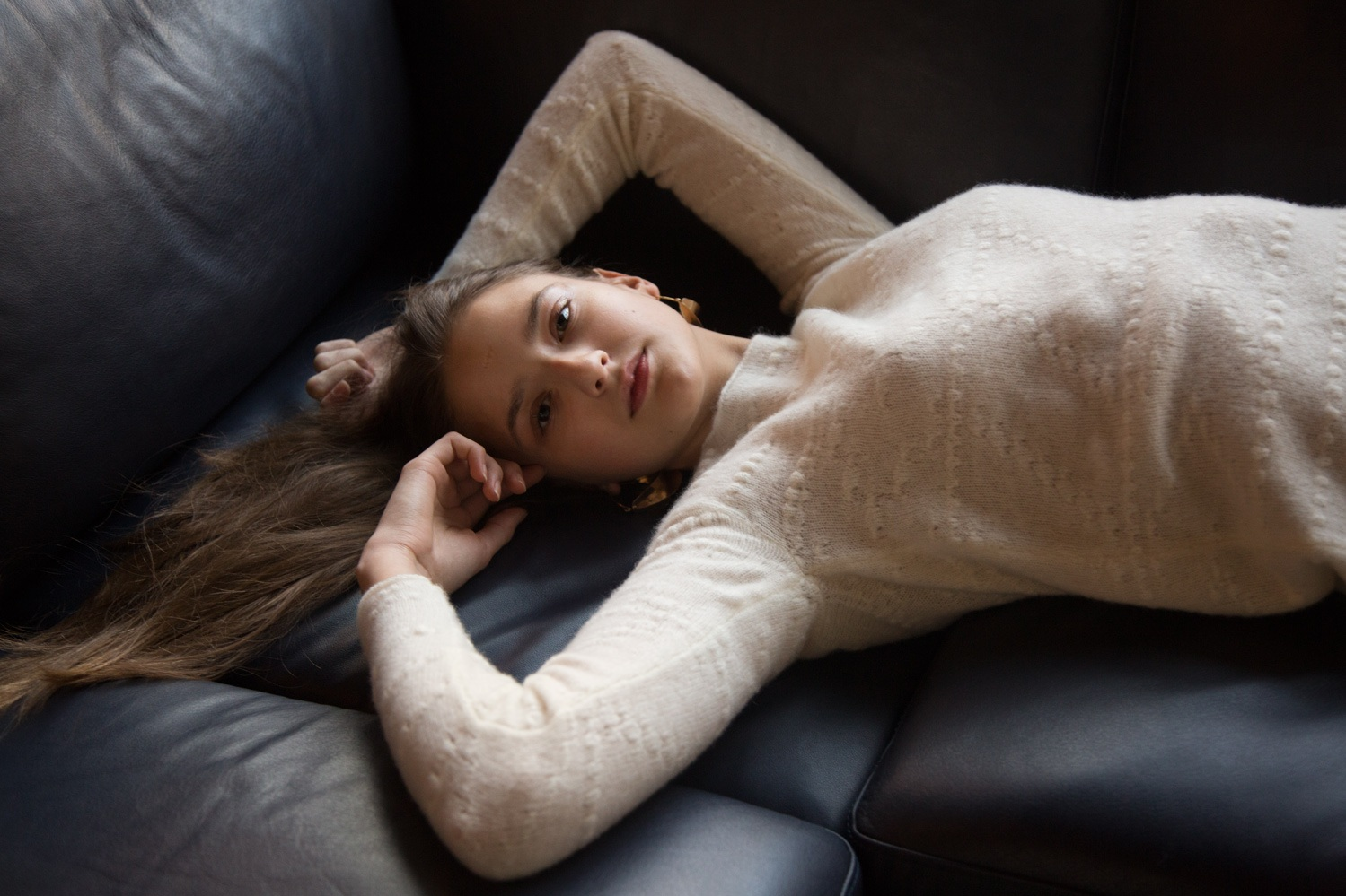 Ivory cashmere sweater