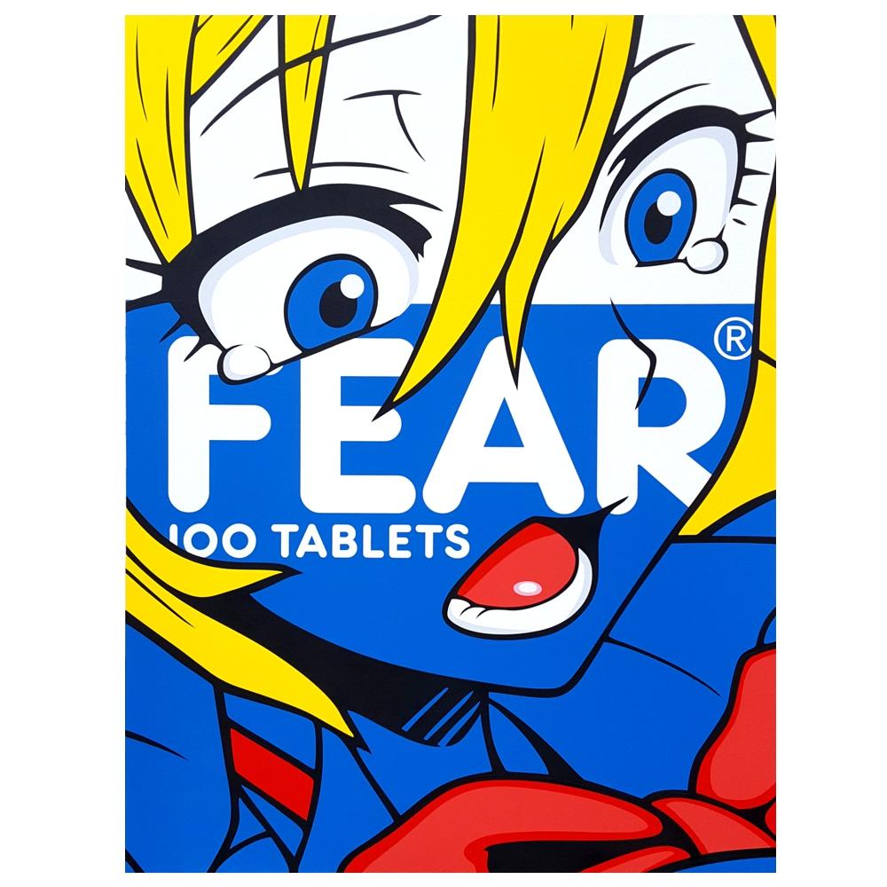 Fear. Acrylic on canvas - 110cm x 130cm. 2017