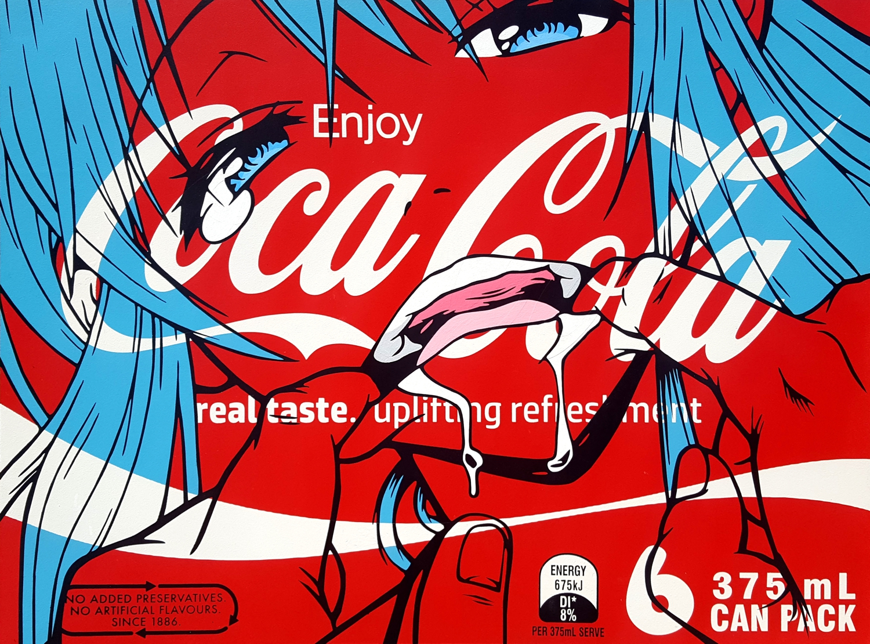 Real Taste (classic) - Spray Paint on board. 60cm x 90cm. 2017