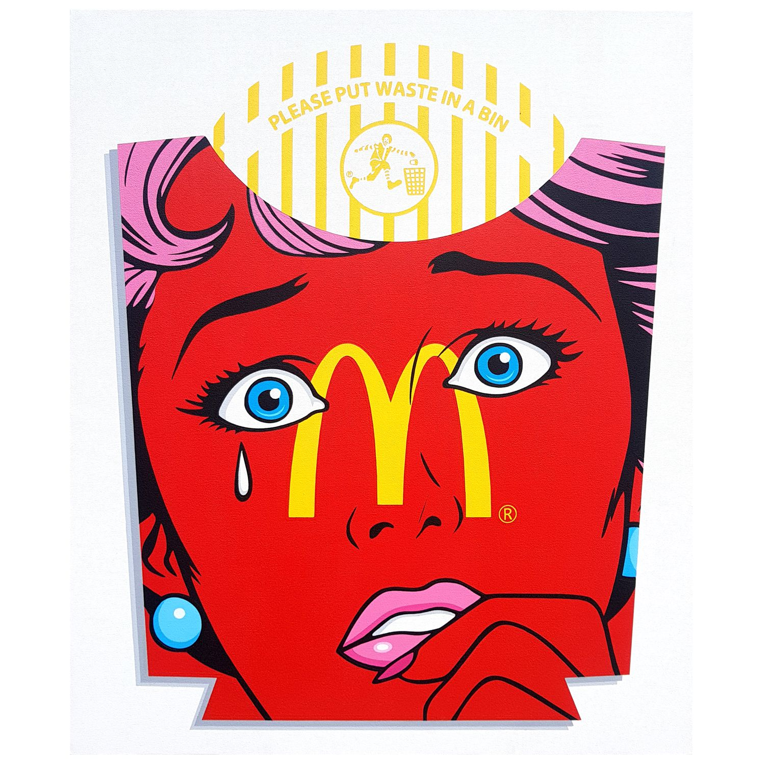 It's Mac Time - Acrylic on canvas - 28 x 34inches - 2018