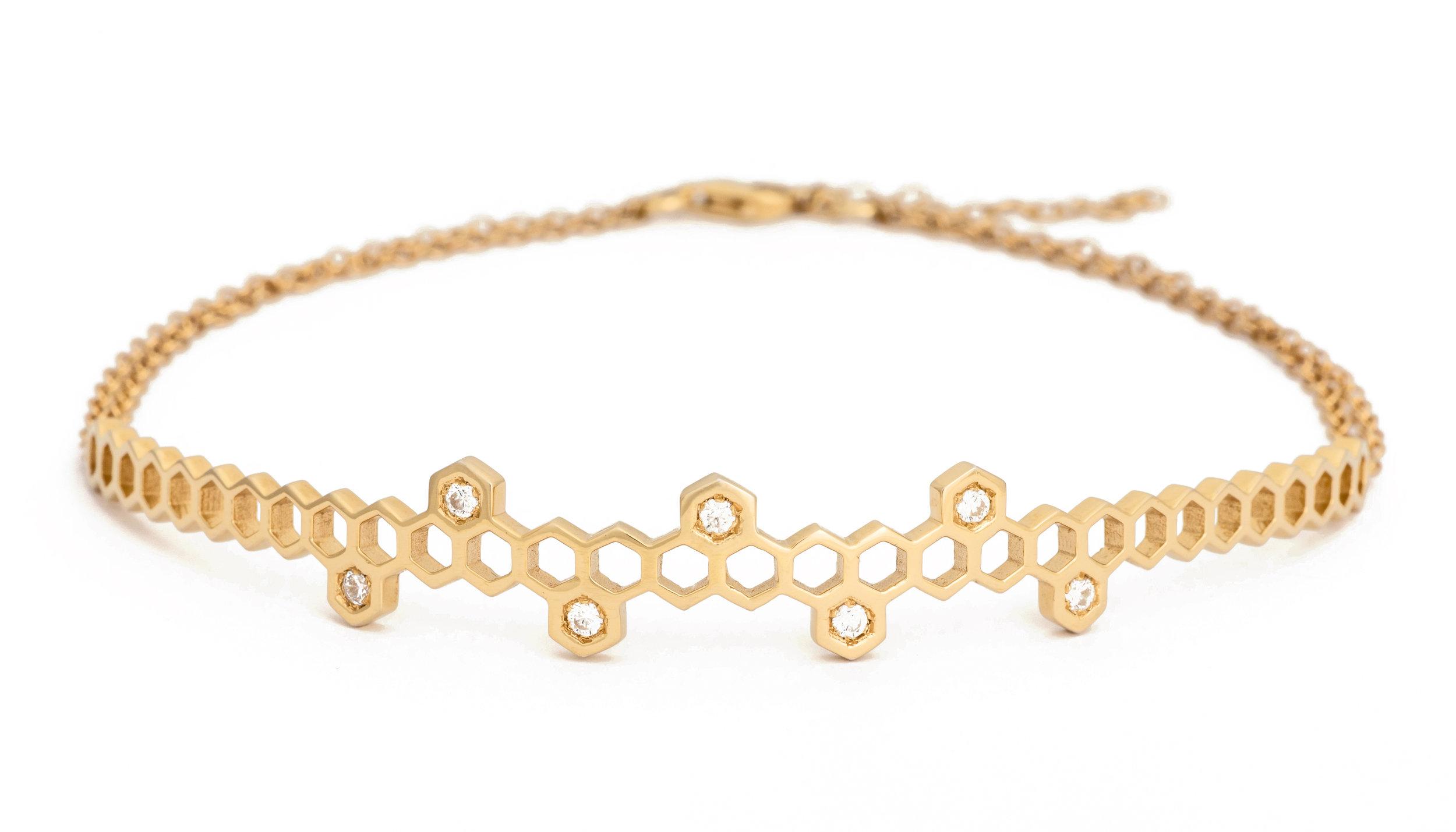 Honeycombs Crown Choker