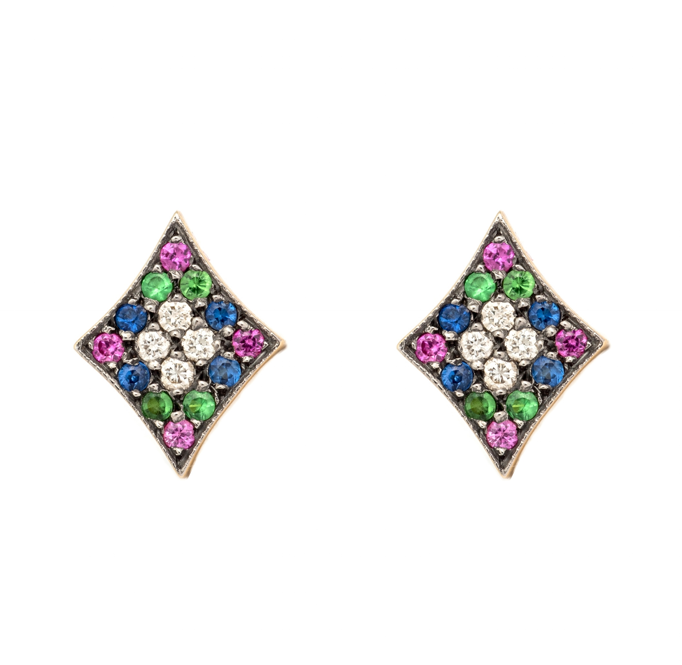 Rhombi Rainbow Earrings