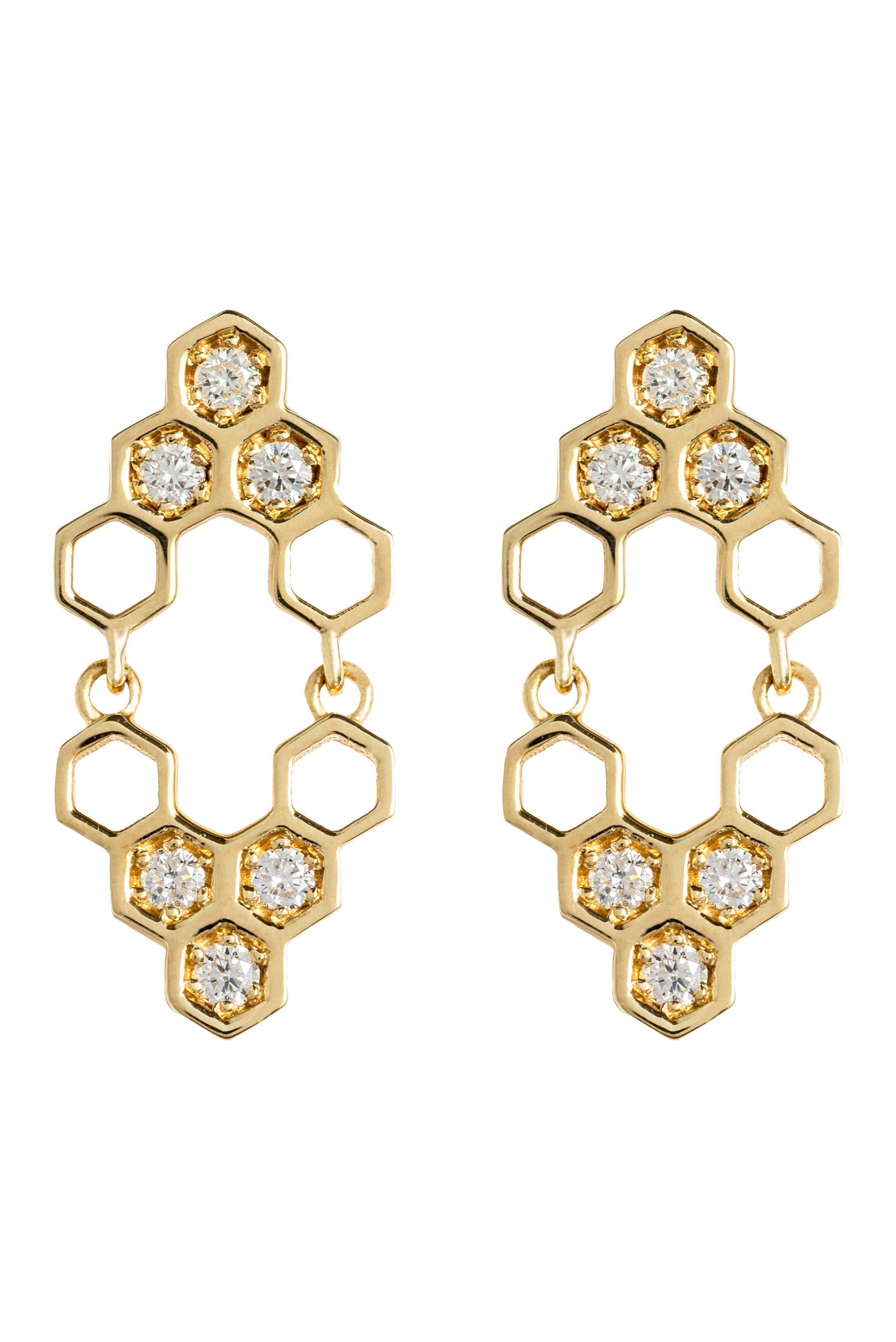 Honeycombs Mirall Earrings