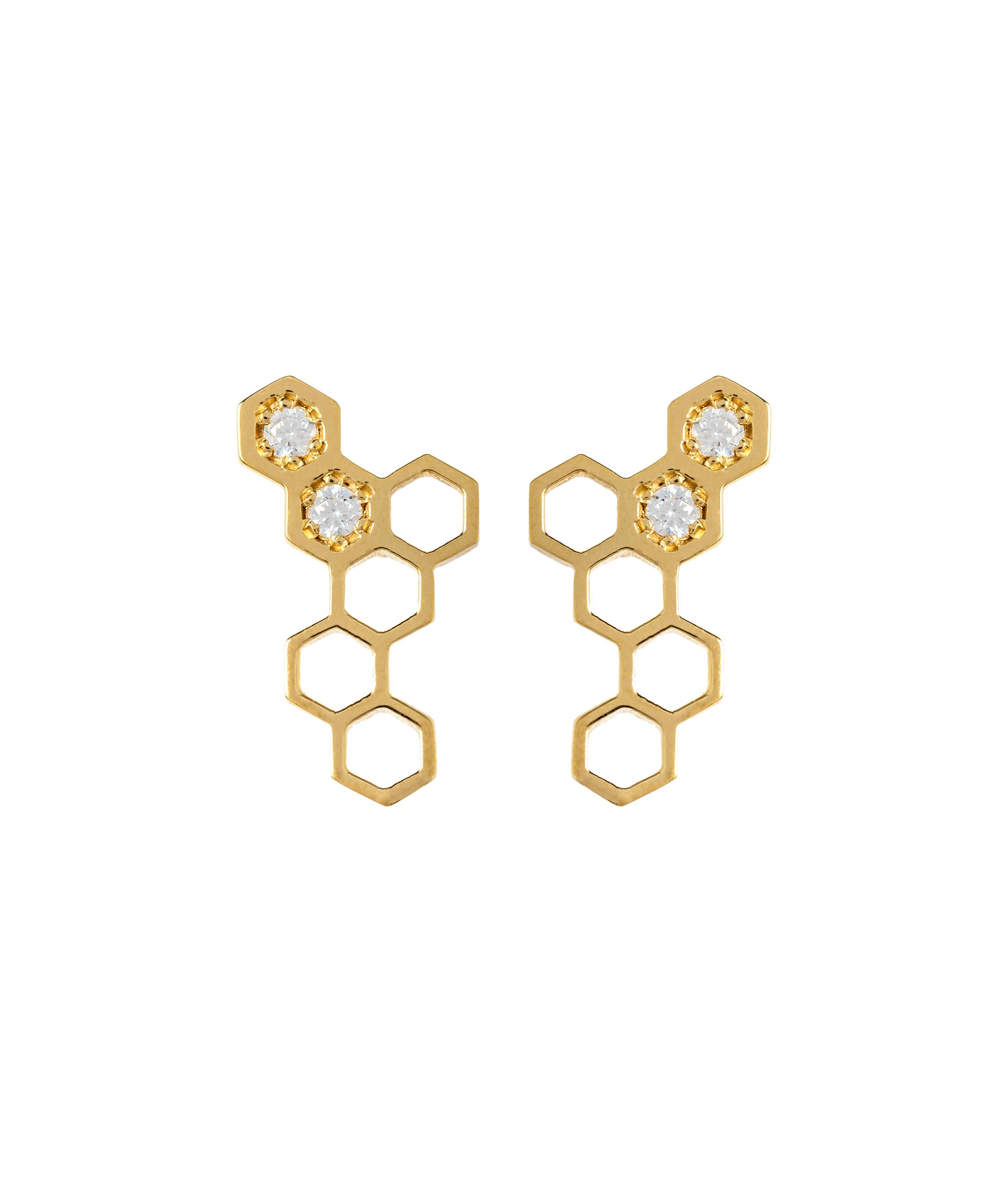 Honeycombs Wing Earrings