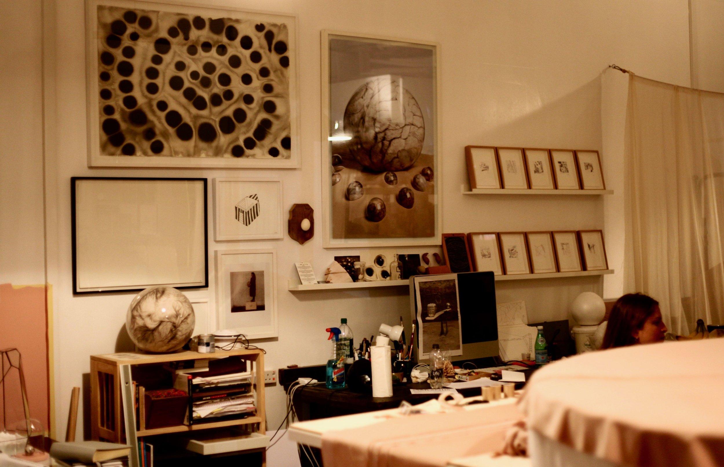 Adeline's study space.