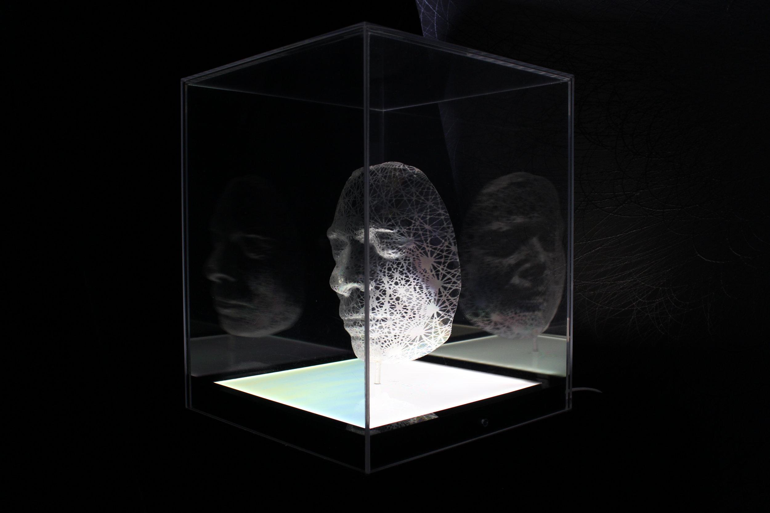 Emeritus Professor Arthur Miller 2015 in light and plastics